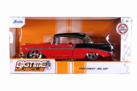 Chevrolet  - Bel Air Hard Top 1956 red/black - 1:24 - Jada Toys - 31861 - jada31861 | The Diecast Company