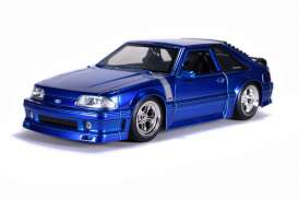 Ford  - Mustang GT 1989 blue - 1:24 - Jada Toys - 31863 - jada31863 | The Diecast Company