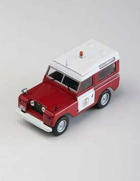 Land Rover  - II Bomberos  red/white - 1:43 - Magazine Models - fire802 - magfire802 | The Diecast Company