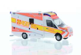 Mercedes Benz  - Sprinter white/orange - 1:87 - Rietze - R76226 - RZ76226 | The Diecast Company