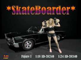 Figures  - Skateboarder #1 2020  - 1:24 - American Diorama - 38340 - AD38340 | The Diecast Company