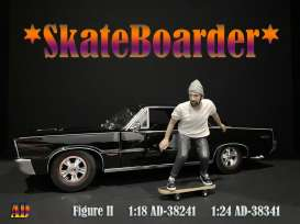 Figures  - Skateboarder #1 2020  - 1:24 - American Diorama - 38341 - AD38341 | The Diecast Company