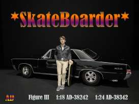 Figures  - Skateboarder #3 2020  - 1:24 - American Diorama - 38342 - AD38342 | The Diecast Company