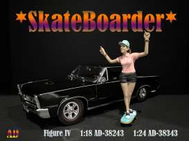 Figures  - Skateboarder #4 2020  - 1:24 - American Diorama - 38343 - AD38343 | The Diecast Company