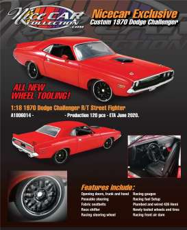 Dodge  - Challenger Custom Street Fight 1970 red - 1:18 - Acme Diecast - 1806014NC - acme1806014NC | The Diecast Company