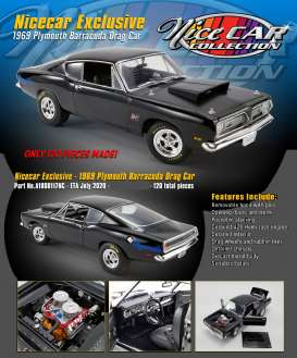 Plymouth  - Hemi Cuda Drag Car 1969 black - 1:18 - Acme Diecast - 1806117NC - acme1806117NC | The Diecast Company