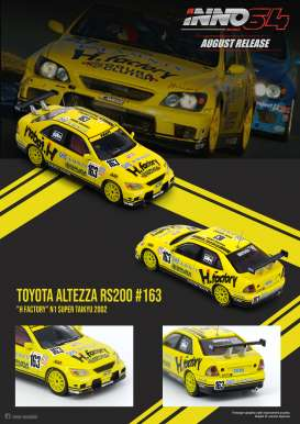 Toyota  - Altezza RS200 #163 2001 yellow/black - 1:64 - Inno Models - in64RS200HFAC - in64RS200HFAC | The Diecast Company