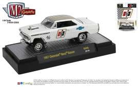 Chevrolet  - Nova Gasser *Hurst* 1967 white/gold - 1:64 - M2 Machines - 31600GS06 - M2-31600GS06 | The Diecast Company