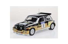 Renault  - 5 Turbo white/yellow/black - 1:18 - Solido - 1804705 - soli1804705 | The Diecast Company