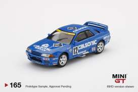 Nissan  - Skyline GT-R  R32 #12 1990 blue/white - 1:64 - Mini GT - 00165-R - MGT00165rhd | The Diecast Company