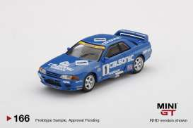 Nissan  - Skyline GT-R  R32 #12 1991 blue/white - 1:64 - Mini GT - 00166-R - MGT00166rhd | The Diecast Company