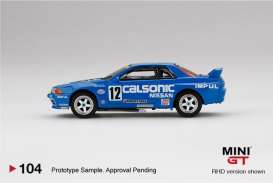 Nissan  - Skyline GT-R  R32 #12 1993 blue/white - 1:64 - Mini GT - 00104-R - MGT00104rhd | The Diecast Company