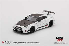 Nissan  - Silhouette Works GT 35GT-RR  2020 white/black - 1:64 - Mini GT - 00168-R - MGT00168RHD | The Diecast Company