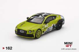 Bentley  - Continental GT *Pikes Peak* 2019 green/black - 1:64 - Mini GT - 00162-L - MGT00162LHD | The Diecast Company