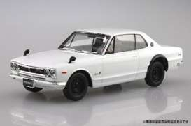 Nissan  - GT-R white - 1:32 - Aoshima - 05883 - abk05883 | The Diecast Company