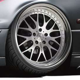 Wheels & tires  - 1:24 - Aoshima - 06114 - abk06114 | The Diecast Company
