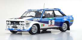 Fiat  - 131 Abarth 1980 white/blue - 1:18 - Kyosho - 8376A - kyo8376A | The Diecast Company