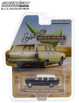 Chevrolet  - Two-Ten Townsman 1955 black/ivory - 1:64 - GreenLight - 36010A - gl36010A | The Diecast Company