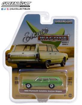 Plymouth  - Satellite 1968 green - 1:64 - GreenLight - 36010B - gl36010B | The Diecast Company