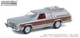Mercury  - Grand Marque 1981 grey/wood - 1:64 - GreenLight - 36010E - gl36010E | The Diecast Company