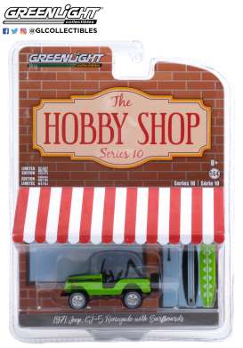 Jeep  - CJ-5 1971 green - 1:64 - GreenLight - 97100B - gl97100B | The Diecast Company