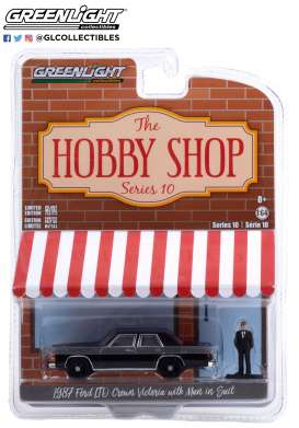 Ford  - LTD Crown 1987 black - 1:64 - GreenLight - 97100E - gl97100E | The Diecast Company