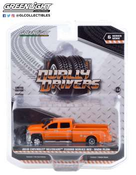 Chevrolet  - Silverado 2018 orange - 1:64 - GreenLight - 46060B - gl46060B | The Diecast Company