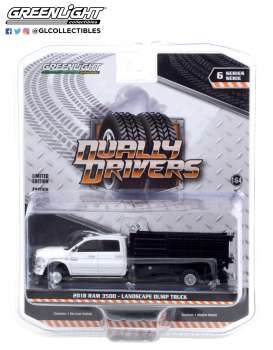 Ram  - 3500 Dually 2018 white - 1:64 - GreenLight - 46060D - gl46060D | The Diecast Company