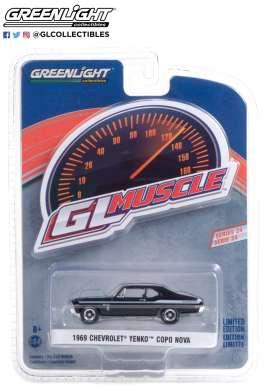 Chevrolet  - Yenko 1969 black - 1:64 - GreenLight - 13290A - gl13290A | The Diecast Company