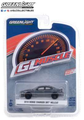 Dodge  - Charger 2018 crystal/black - 1:64 - GreenLight - 13290D - gl13290D | The Diecast Company