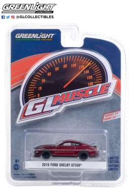 Ford  - Shelby GT350 2019 red - 1:64 - GreenLight - 13290E - gl13290E | The Diecast Company