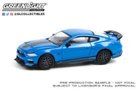 Ford  - Mustang 2019 blue/black - 1:64 - GreenLight - 13290F - gl13290F | The Diecast Company