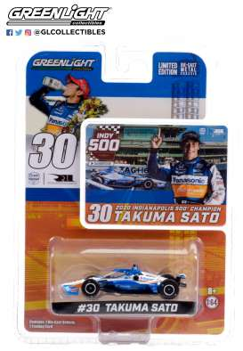 Honda  - Indy Car Takuma Sato 2020 white/blue/orange - 1:64 - GreenLight - 10884 - gl10884 | The Diecast Company