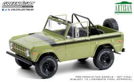 Ford  - Bronco 1975 green - 1:18 - GreenLight - 19100 - gl19100 | The Diecast Company