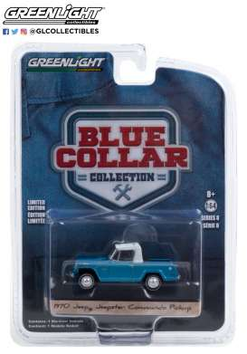 Jeep  - Commando 1970 light blue - 1:64 - GreenLight - 35180B - gl35180B | The Diecast Company