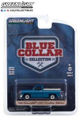 Chevrolet  - Custom DeLuxe 1981 light blue - 1:64 - GreenLight - 35180D - gl35180D | The Diecast Company