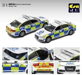 Audi  - A6 white/blue/green - 1:64 - Era - AU20A6RN31 - Era20A6RN31 | The Diecast Company