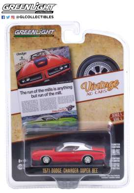 Dodge  - Charger 1971 red - 1:64 - GreenLight - 39060A - gl39060A | The Diecast Company