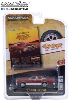 Ford  - LTD Crown 1979 burgundy - 1:64 - GreenLight - 39060C - gl39060C | The Diecast Company