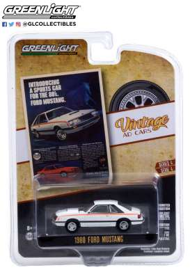 Ford  - Mustang 1980 white - 1:64 - GreenLight - 39060D - gl39060D | The Diecast Company