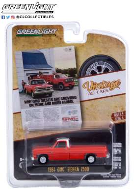 GMC  - Sierra 2500 1984 red - 1:64 - GreenLight - 39060F - gl39060F | The Diecast Company