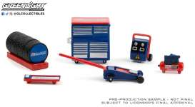 diorama Accessoires - blue/red/white - 1:64 - GreenLight - 16080B - gl16080B | The Diecast Company
