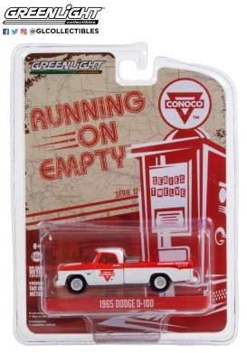 Dodge  - D-100 1965 white/red - 1:64 - GreenLight - 41120C - gl41120C | The Diecast Company