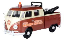 Volkswagen  - Type 2 white/brown - 1:24 - Motor Max - 79585 - mmax79585 | The Diecast Company
