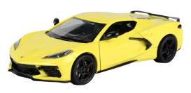 Corvette  - Stingray  2020 yellow - 1:24 - Motor Max - 79360 - mmax79360y | The Diecast Company