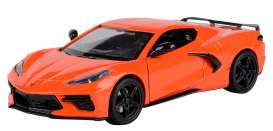 Corvette  - Stingray  2020 orange - 1:24 - Motor Max - 79360 - mmax79360o | The Diecast Company