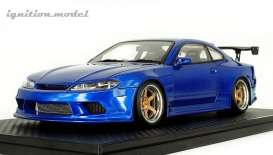 Nissan  - S15 Silvia blue - 1:18 - Ignition - IG2001 - IG2001 | The Diecast Company