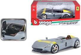 Ferrari  - SP1 grey/yellow - 1:24 - Bburago - 26027 - bura26027gy | The Diecast Company