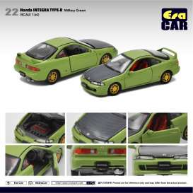 Honda  - Integra Type R DC2 green/black - 1:64 - Era - HA20DC2RN22 - Era20DC2RN22 | The Diecast Company