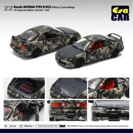 Honda  - Integra Type R DC2 army camouflage - 1:64 - Era - HA20DC2RF22 - Era20DC2RF22 | The Diecast Company